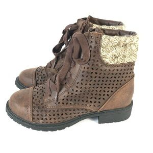 Justice boots faux leather